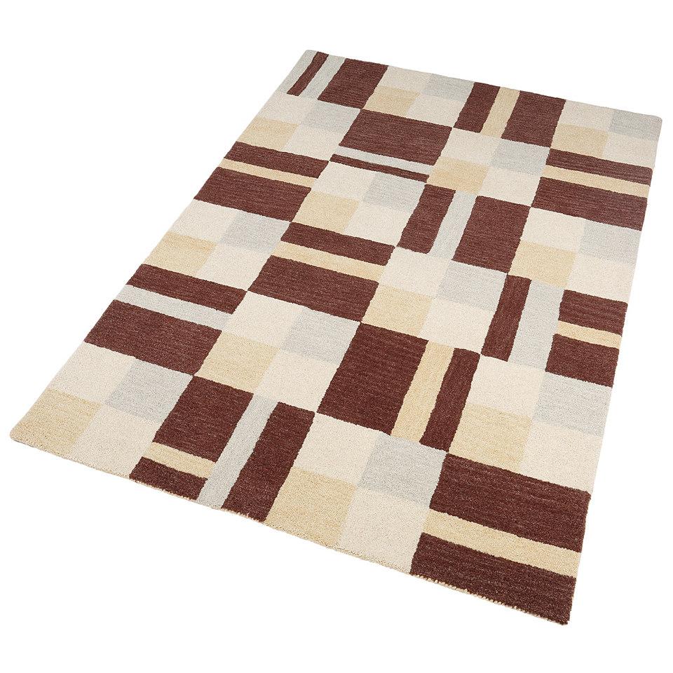 Teppich, Theko, »Tristan«, handgearbeitet, Wolle, 3,8 kg/m²