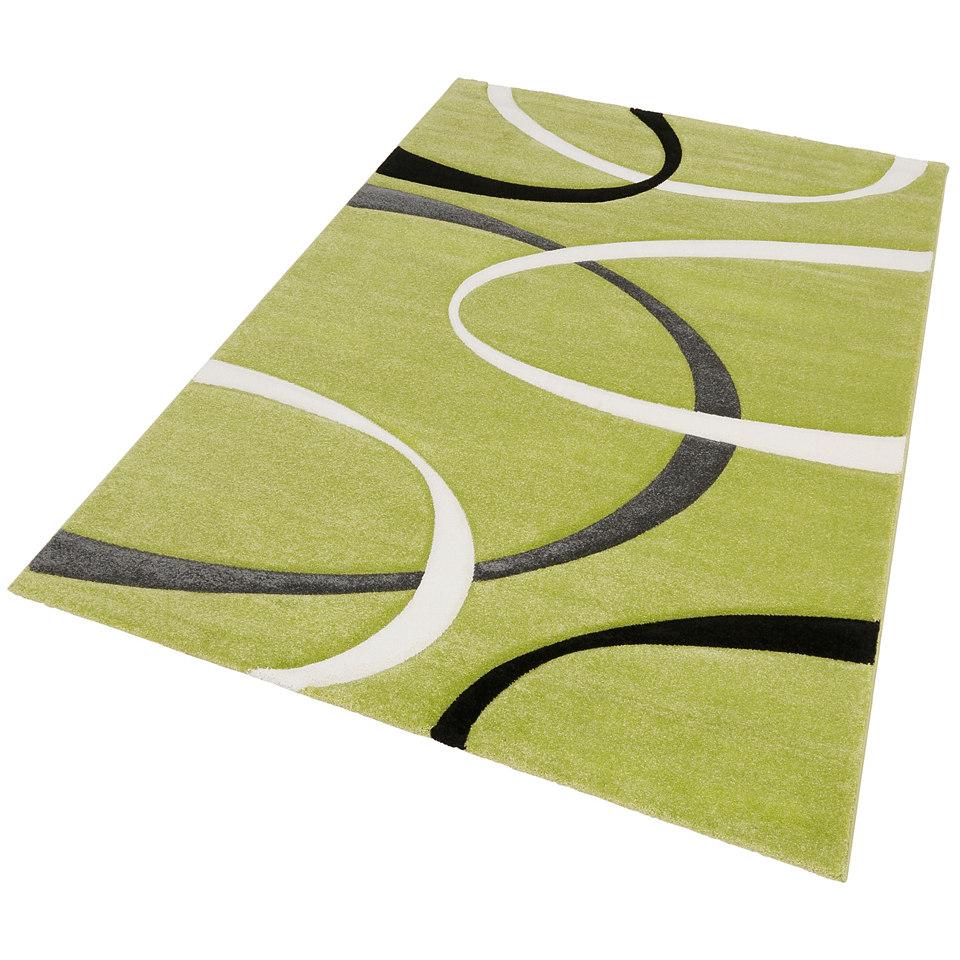 Teppich, my Home, �Bilbao�, handgearbeiteter Konturenschnitt, Hoch-Tief-Struktur