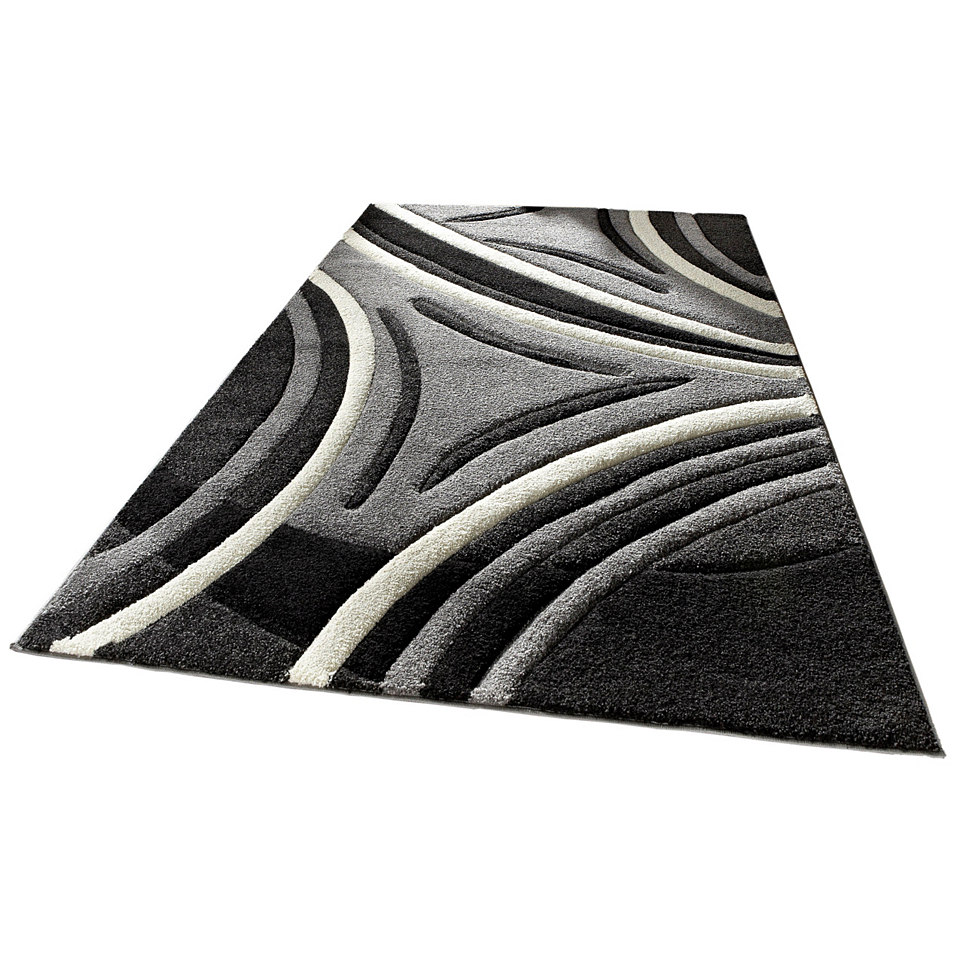 Teppich, my home, »David«, handgearbeiteter Konturenschnitt, gewebt
