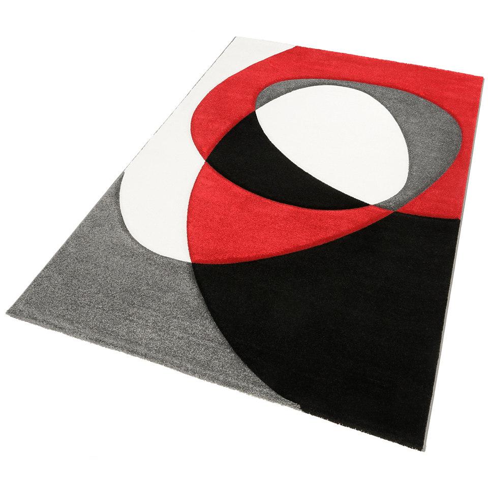 Teppich, my home, »Diego«, handgearbeiteter Konturenschnitt, gewebt