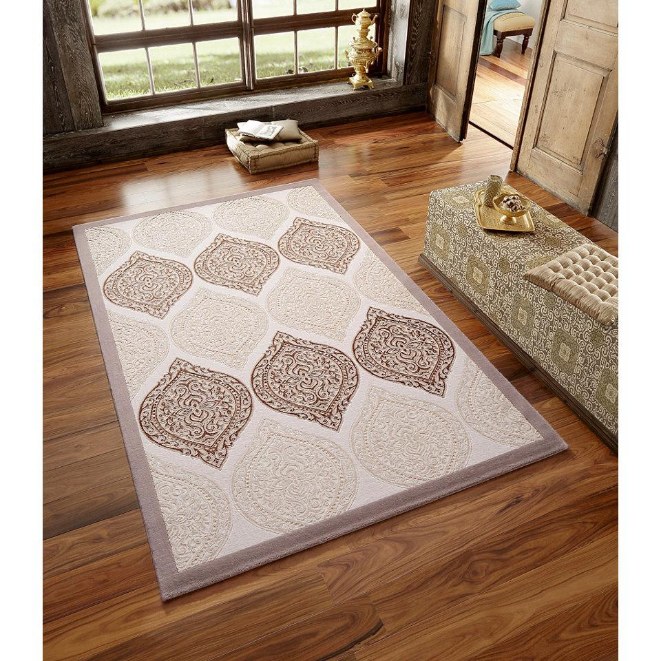Teppich, my home, �Elhamra� , gewebt mit Glanzeffektgarn , 3,3 kg/m�