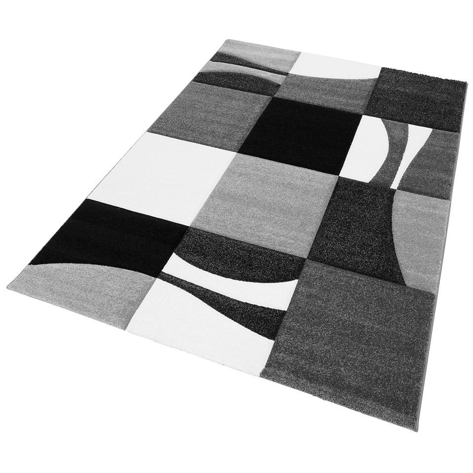 Teppich, my home, �Lund�, handgearbeiteter Konturenschnitt, gewebt
