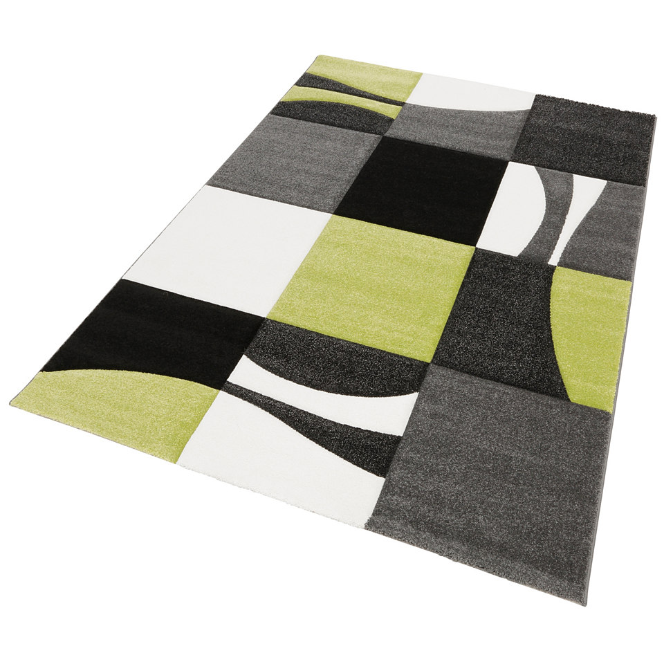 Teppich, my home, »Lund«, handgearbeiteter Konturenschnitt, gewebt