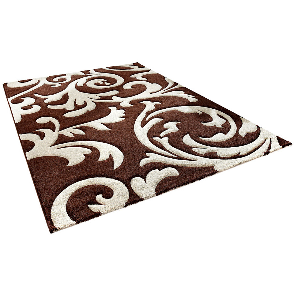 Teppich, my home, �Ragusa�, handgearbeiteter Konturenschnitt, gewebt