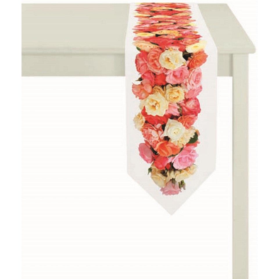 Tischband, Apelt, »4049- Digitaldruck Rosenbordüre«
