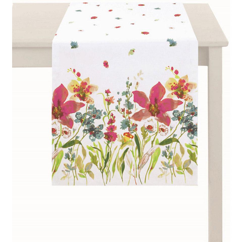 Tischl�ufer, Apelt, �4060- Digitaldruck Blumenwiese�