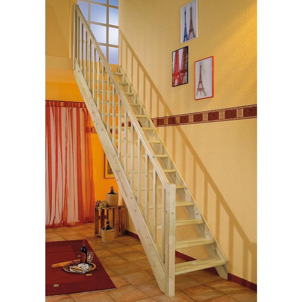 Treppe �Paris�, Buche ohne Setzstufen (offen),mit Drechselgel�nder
