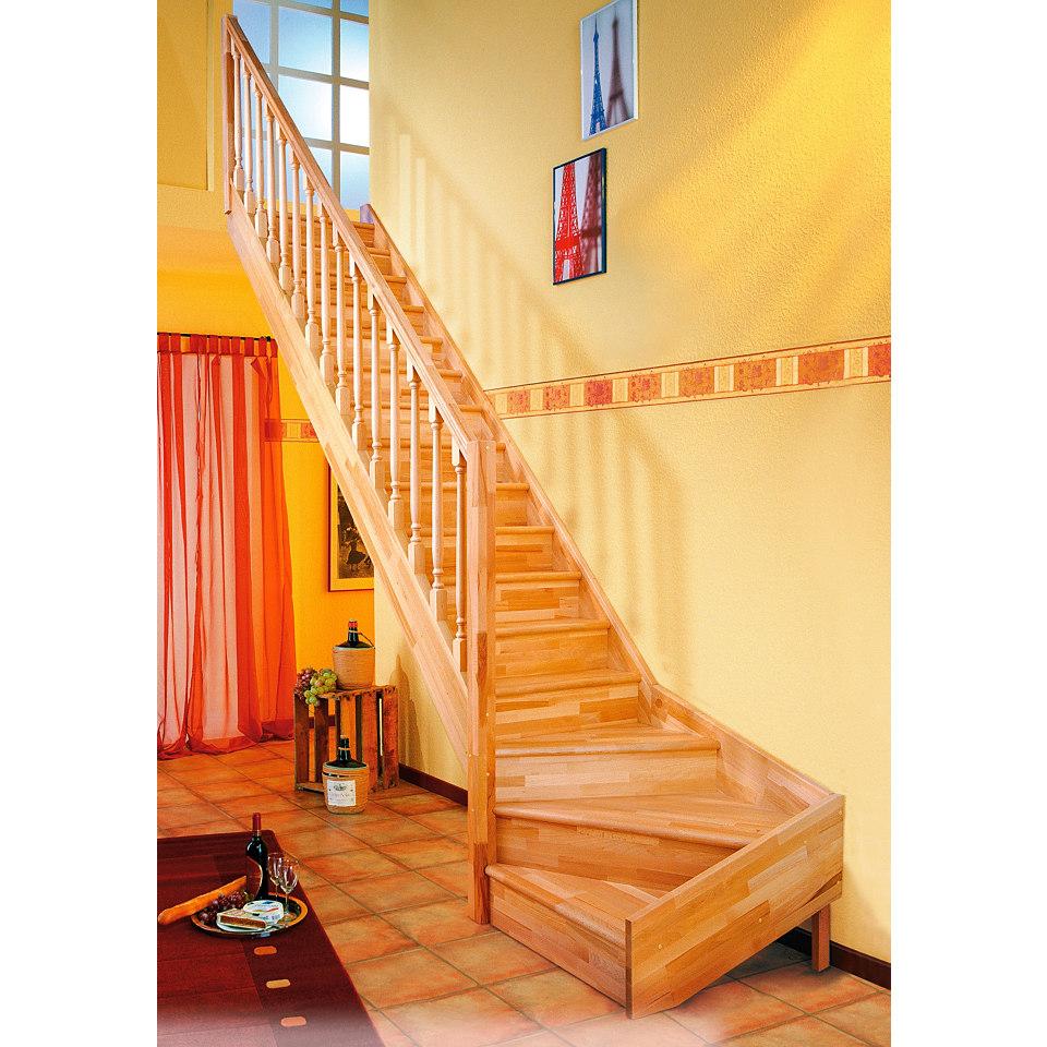 Treppe »Paris«, Fichte mit Setzstufen (geschlossen)