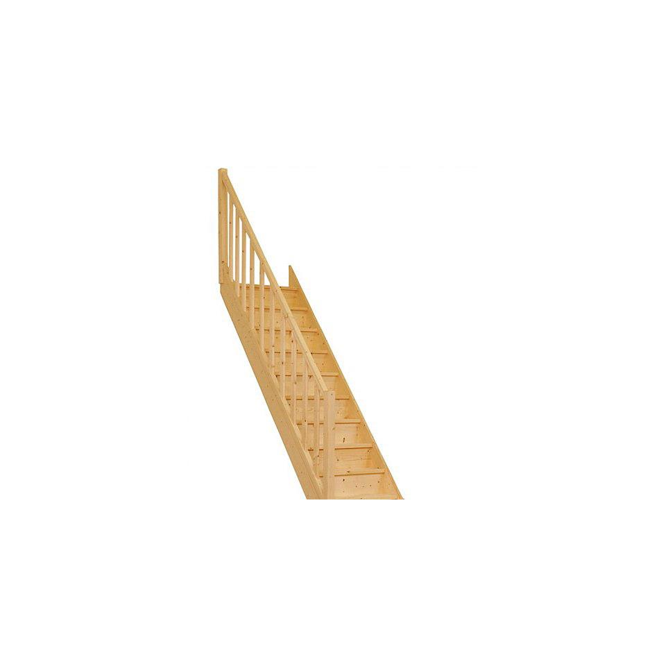 Treppe �Paris�, Fichte mit Setzstufen (geschlossen), mit Rechtecksgel�nder
