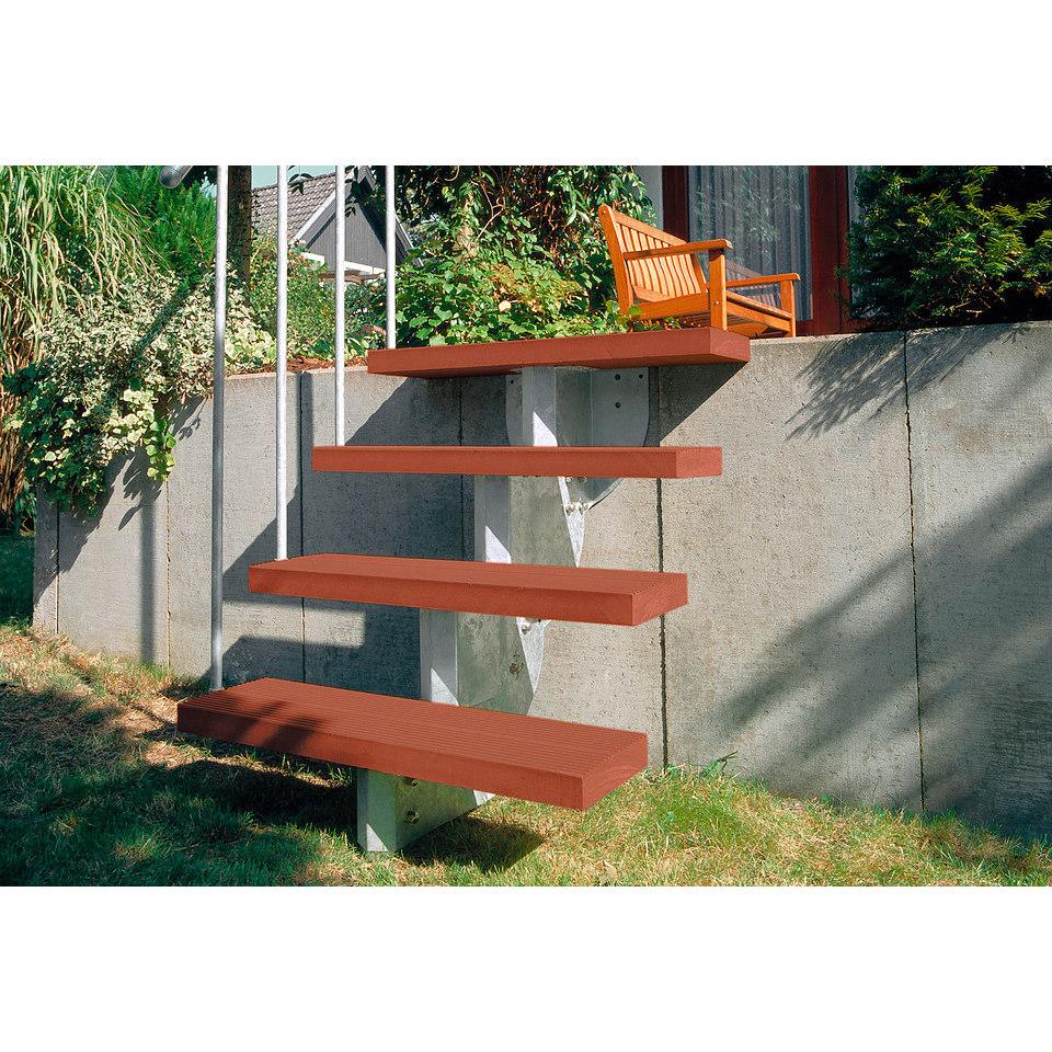 Trimax-Stufen für die Außentreppe »Gardenstep« in braun, für einfache Unterkonstruktion