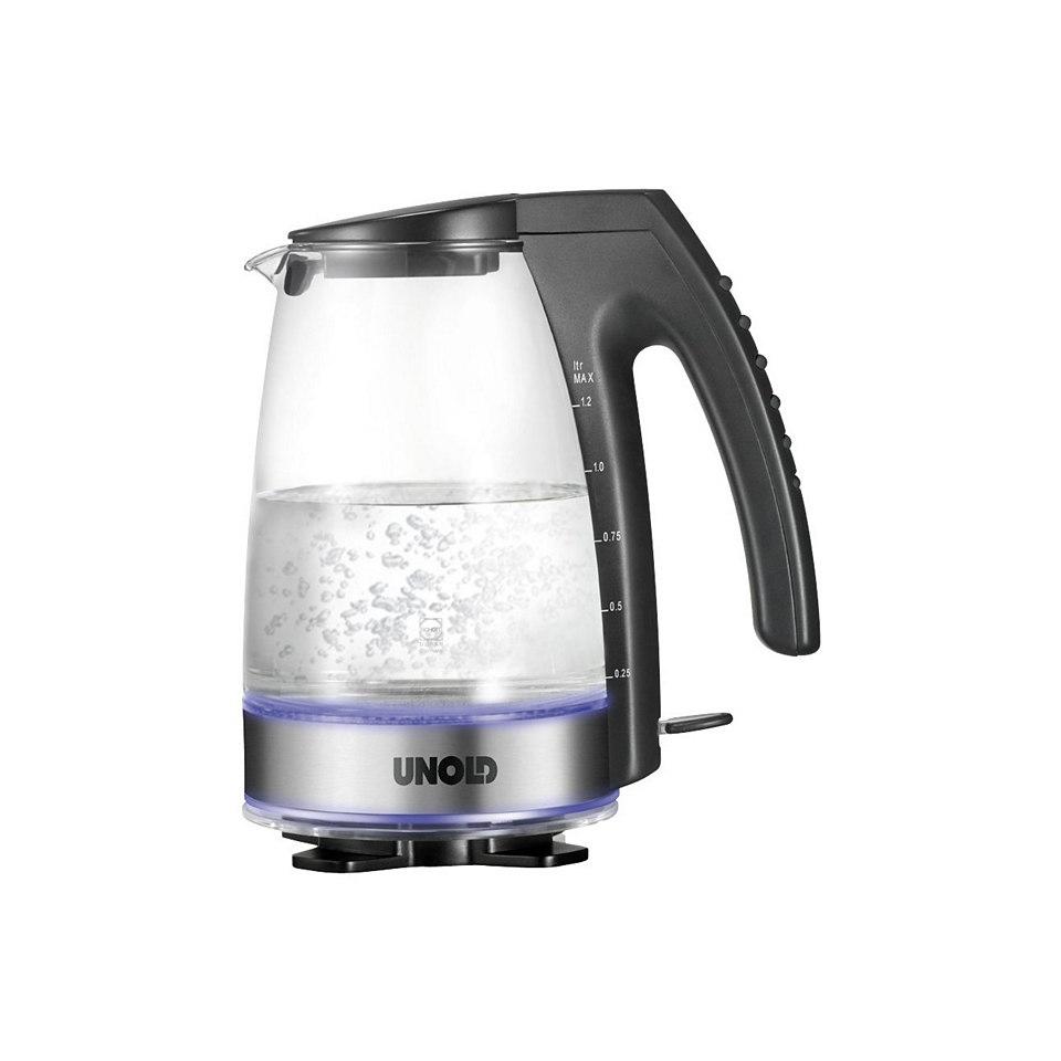 Unold Glas-Blitz-Wasserkocher, 1,2 Liter, 2300 Watt