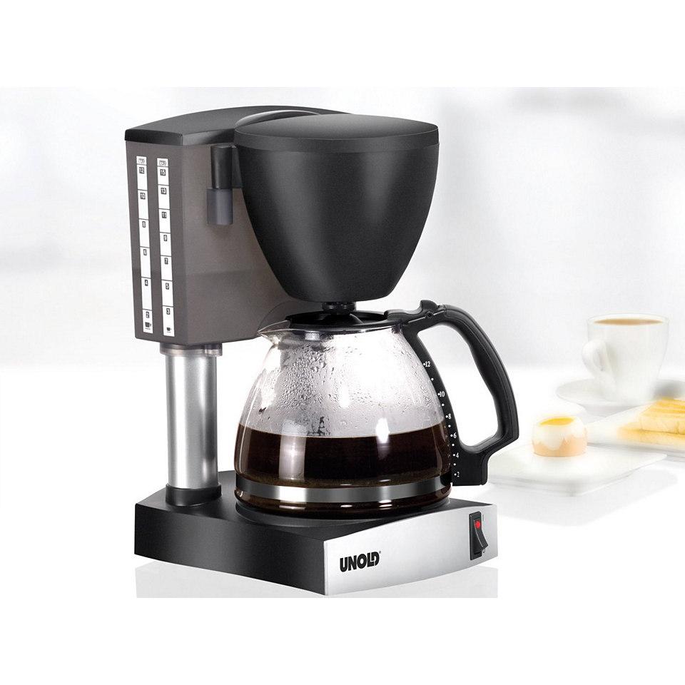 Unold Kaffeemaschine »Silver Wave«, Glaskanne