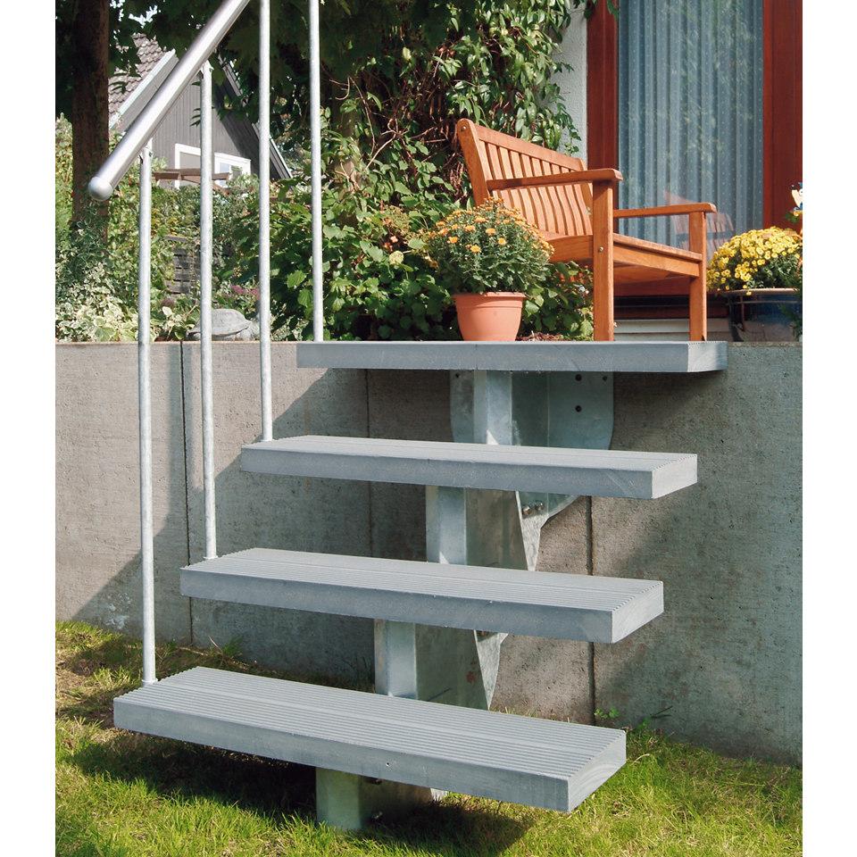 Unterbaukonstruktion für Außentreppe »Gardenstep«, einfache Unterkonstruktion, 2 Stufen