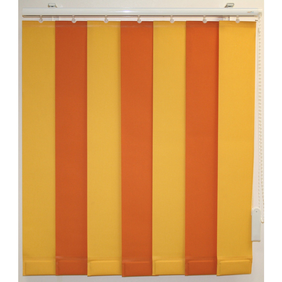 Vertikal - Lamellenvorhang mit eingeschweißten Beschwerungsplatten, Sunlines