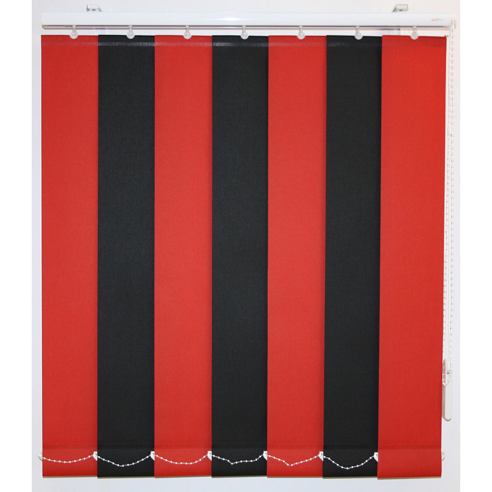 Vertikal - Lamellenvorhang mit weißen Verbindungsketten, Sunlines, Wunschmaß