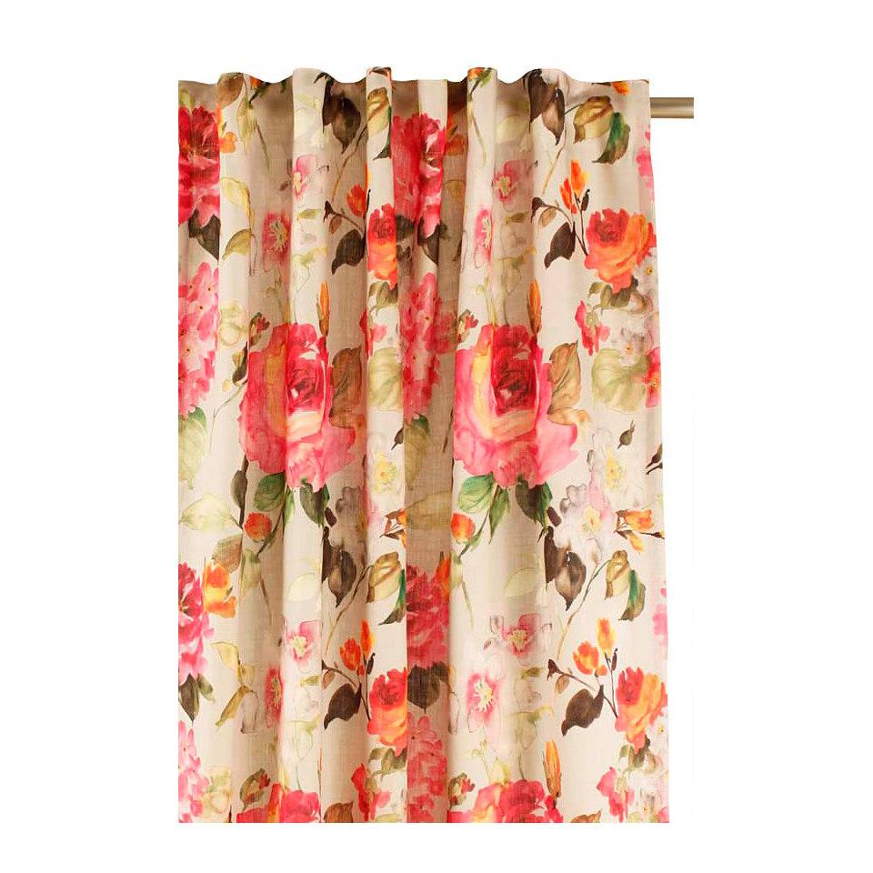 Vorhang, Apelt, »Blütendruck«, mit Smokband (1 Stück)