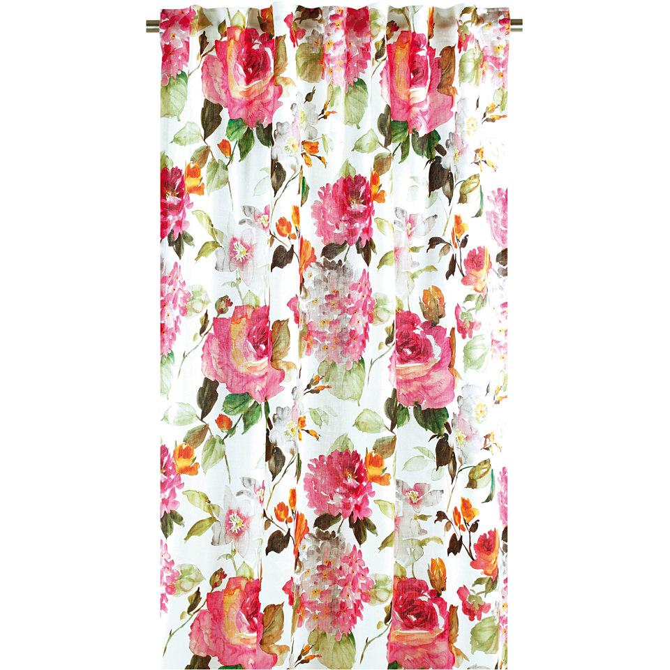Vorhang, Apelt, �Bl�tendruck�, mit Smokband (1 St�ck)
