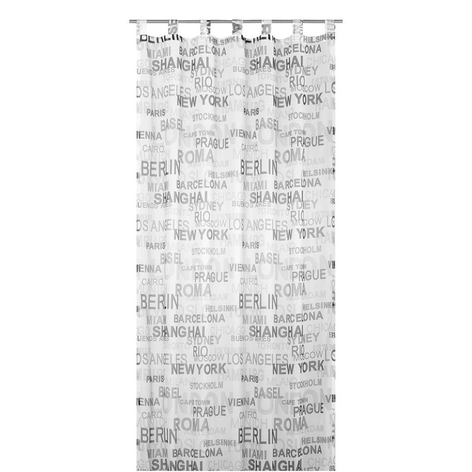 Vorhang, Elbersdrucke, �City�, Transparent (1 St�ck)