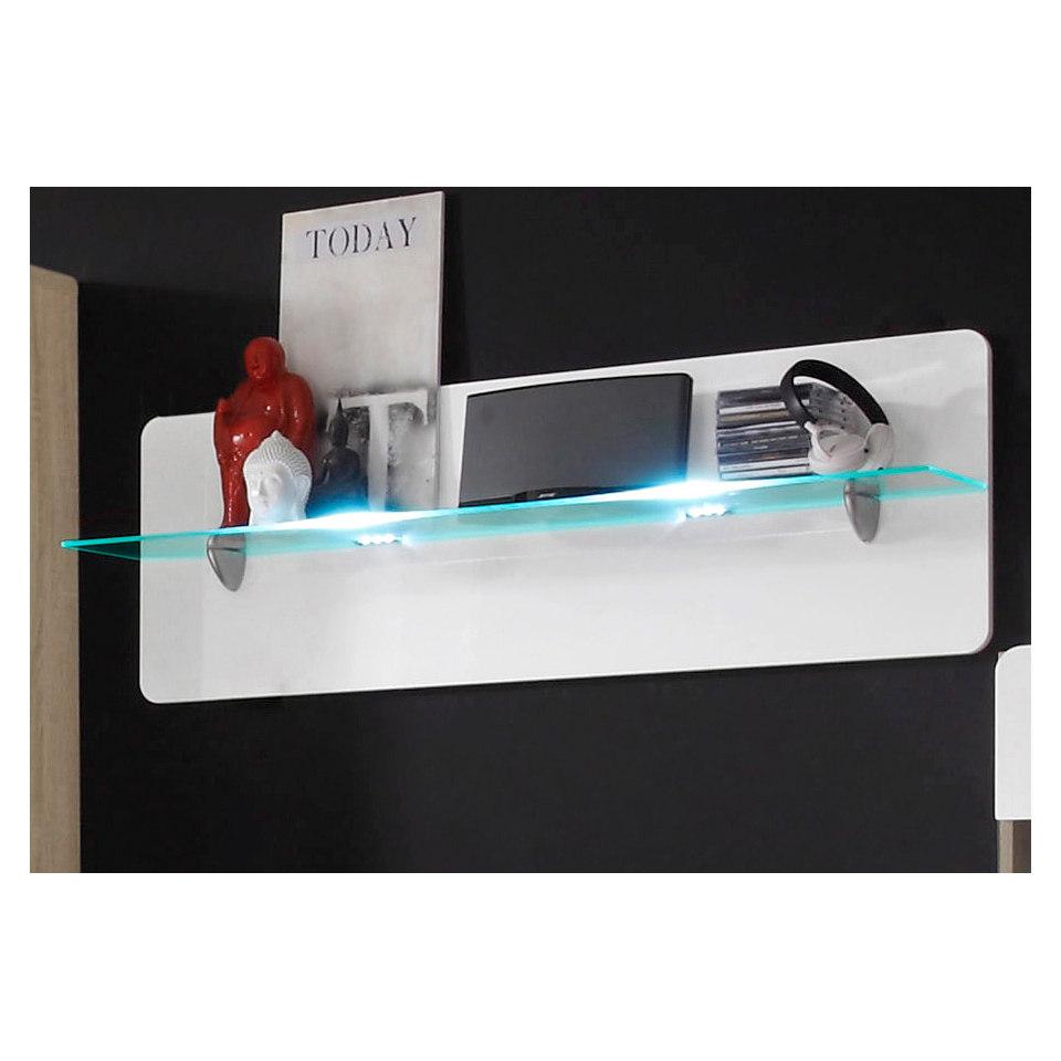 Wandboard mit Glasablage, Breite 120 cm