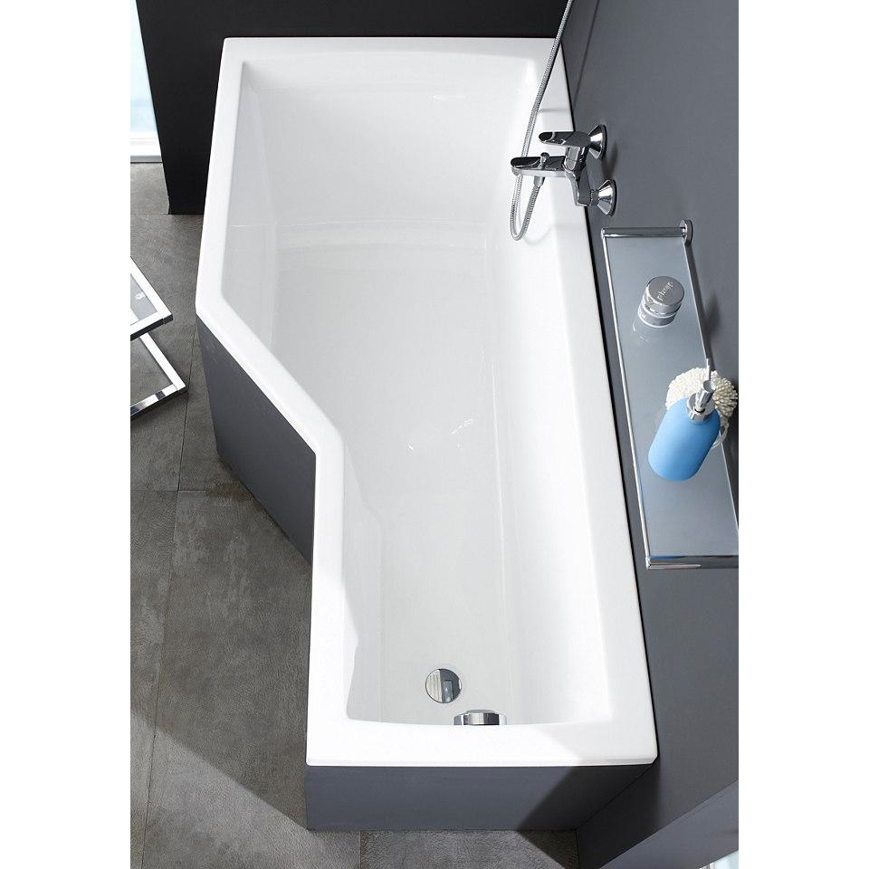 Wannen-Duschkombination »Cello« mit Wannenfüßen und Badewannenaufsatz