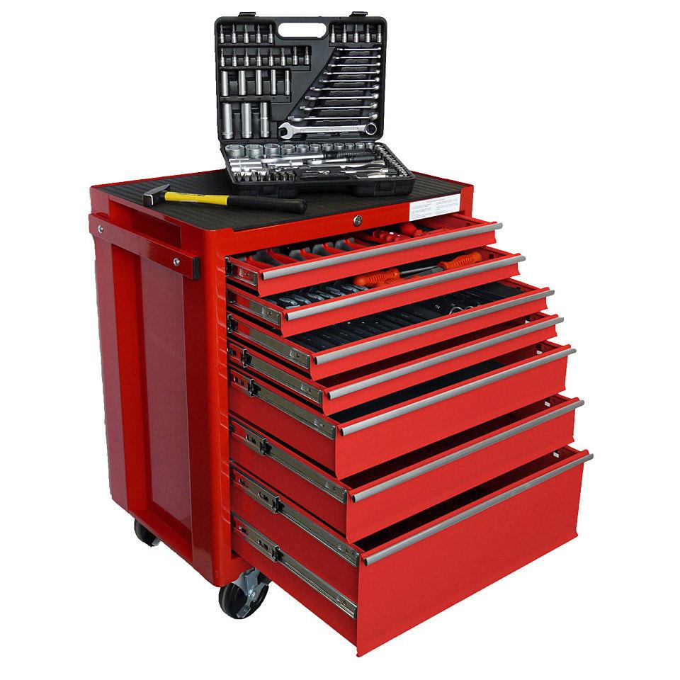 Werkstattwagen-Komplettset, inklusive Werkzeug