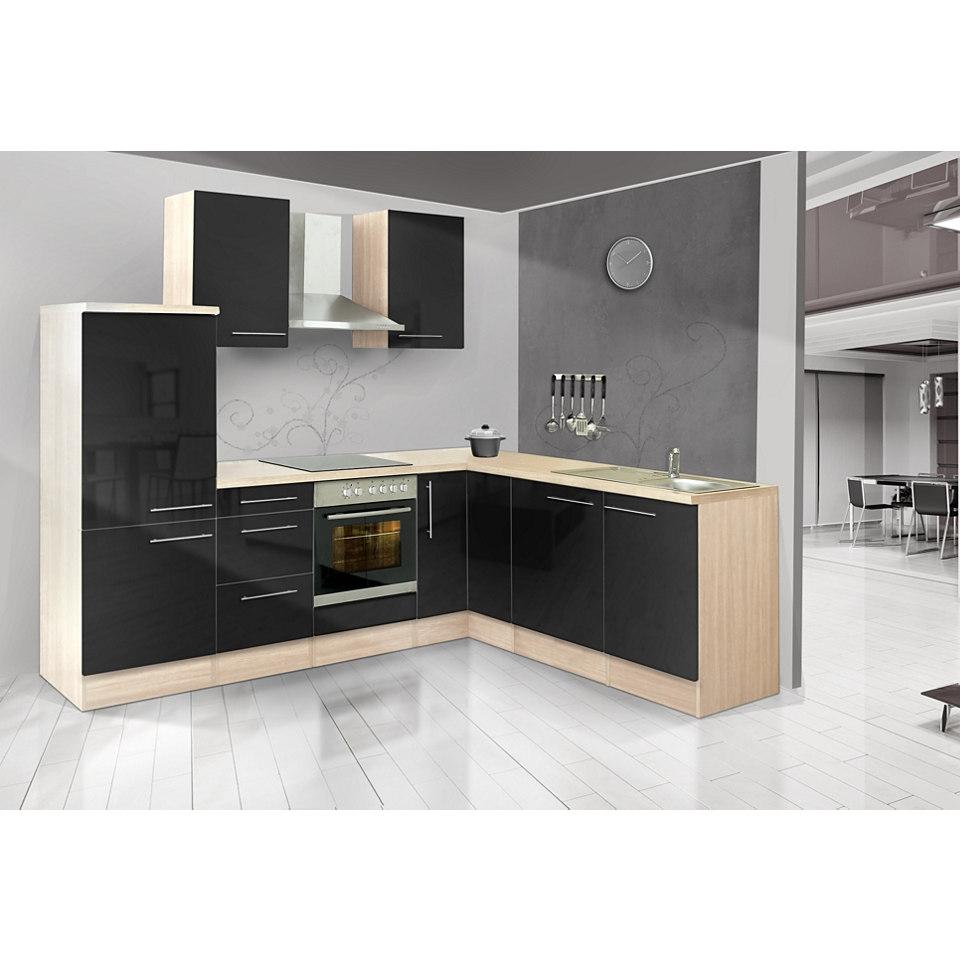 Winkel-Küchenzeile »Mia«, 260 x 200 cm, Korpus Akazie Dekor, Set 1