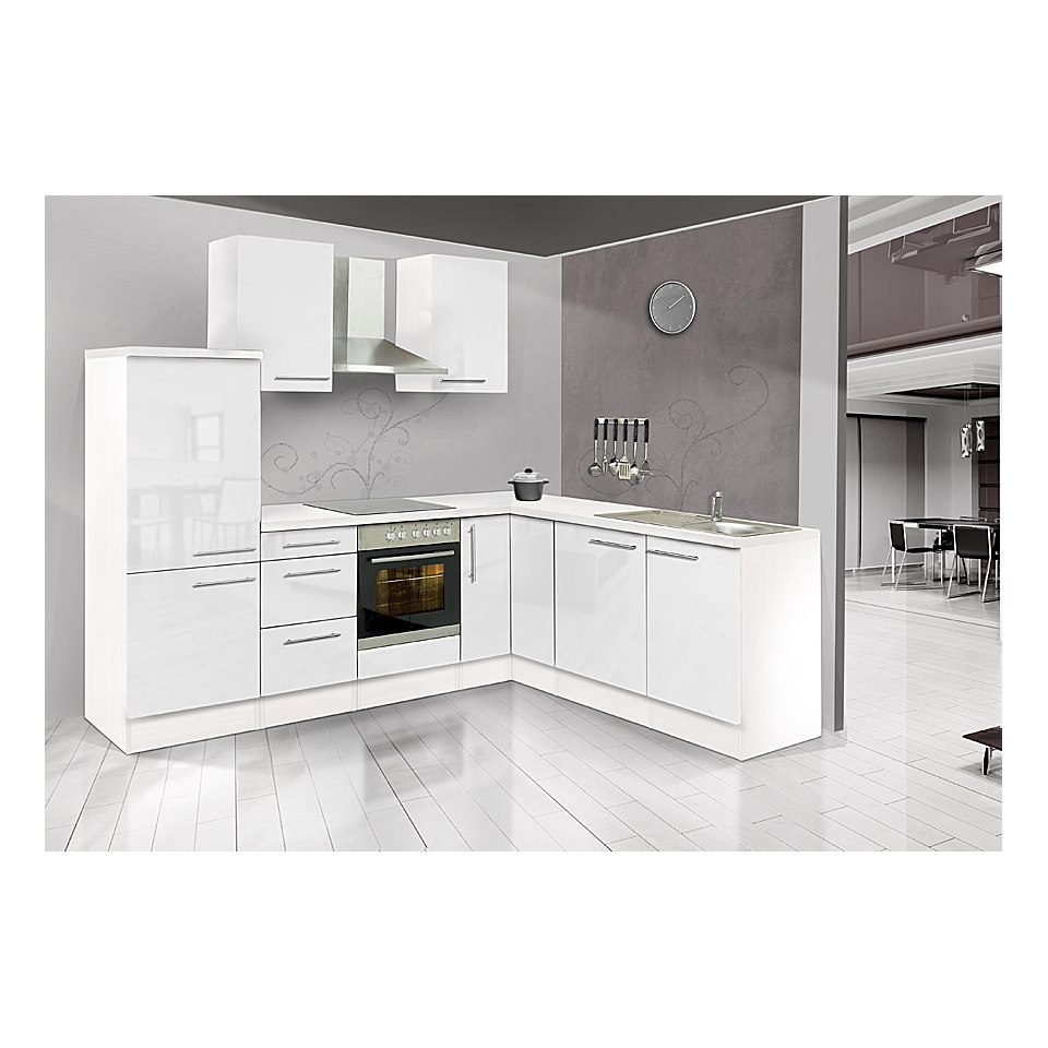 Winkel-Küchenzeile »Mia«, 260 x 200 cm, Korpus Weiß, Set 1