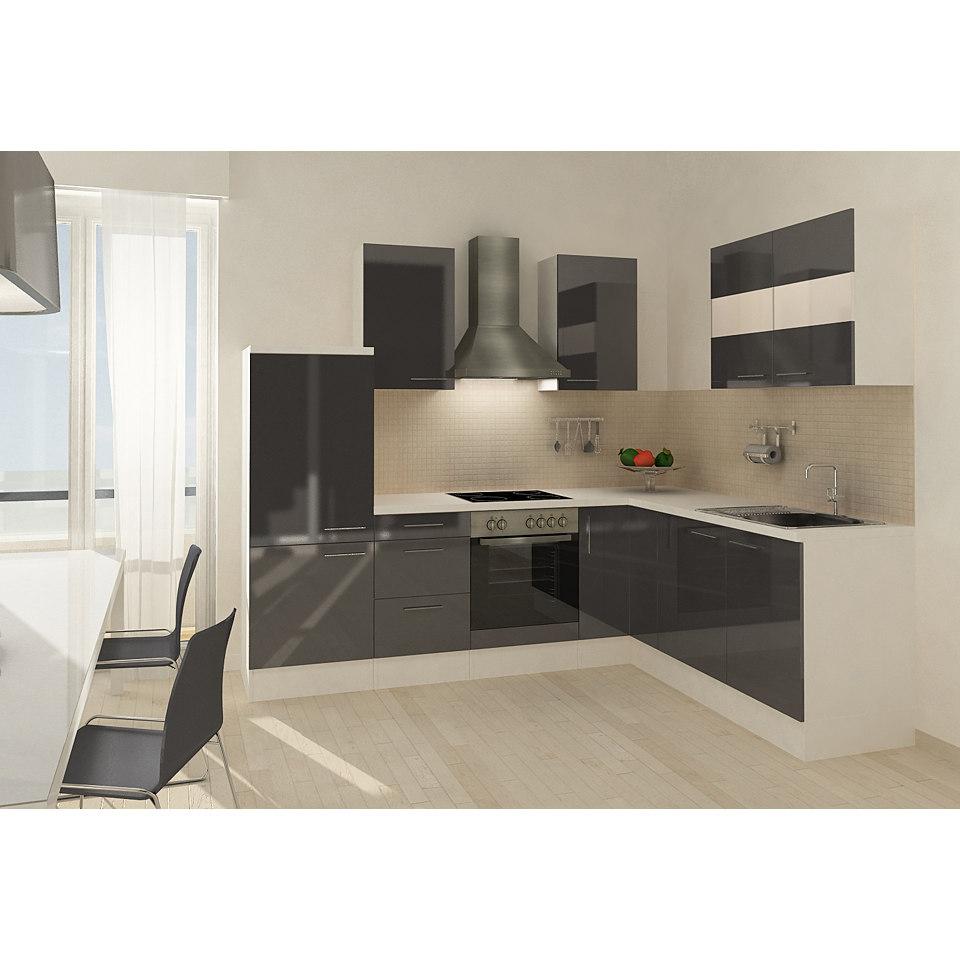 Winkel-Küchenzeile »Mia«, 260 x 200 cm, Korpus Weiß, Set 2