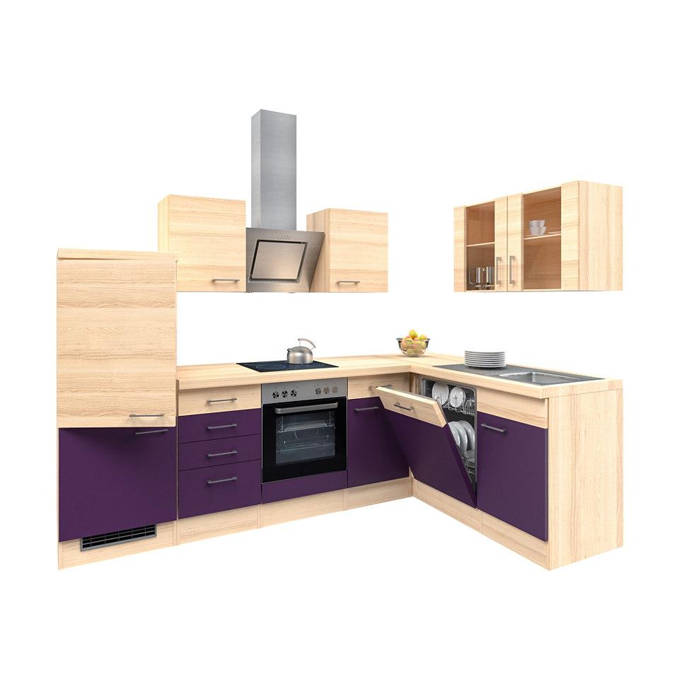 Winkel-Küchenzeile »Portland«, 280 x 170 cm - mit E-Geräten