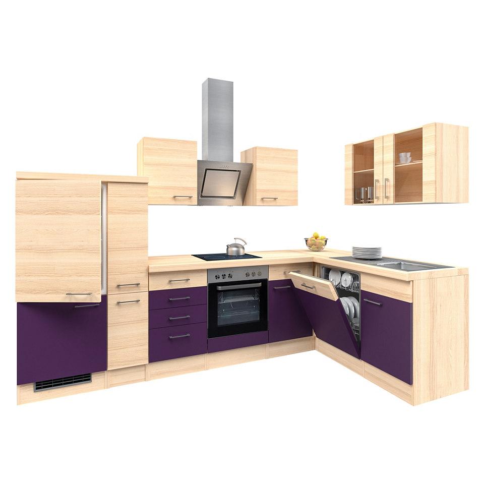 Winkel-Küchenzeile »Portland«, 310 x 170 cm - mit E-Geräten