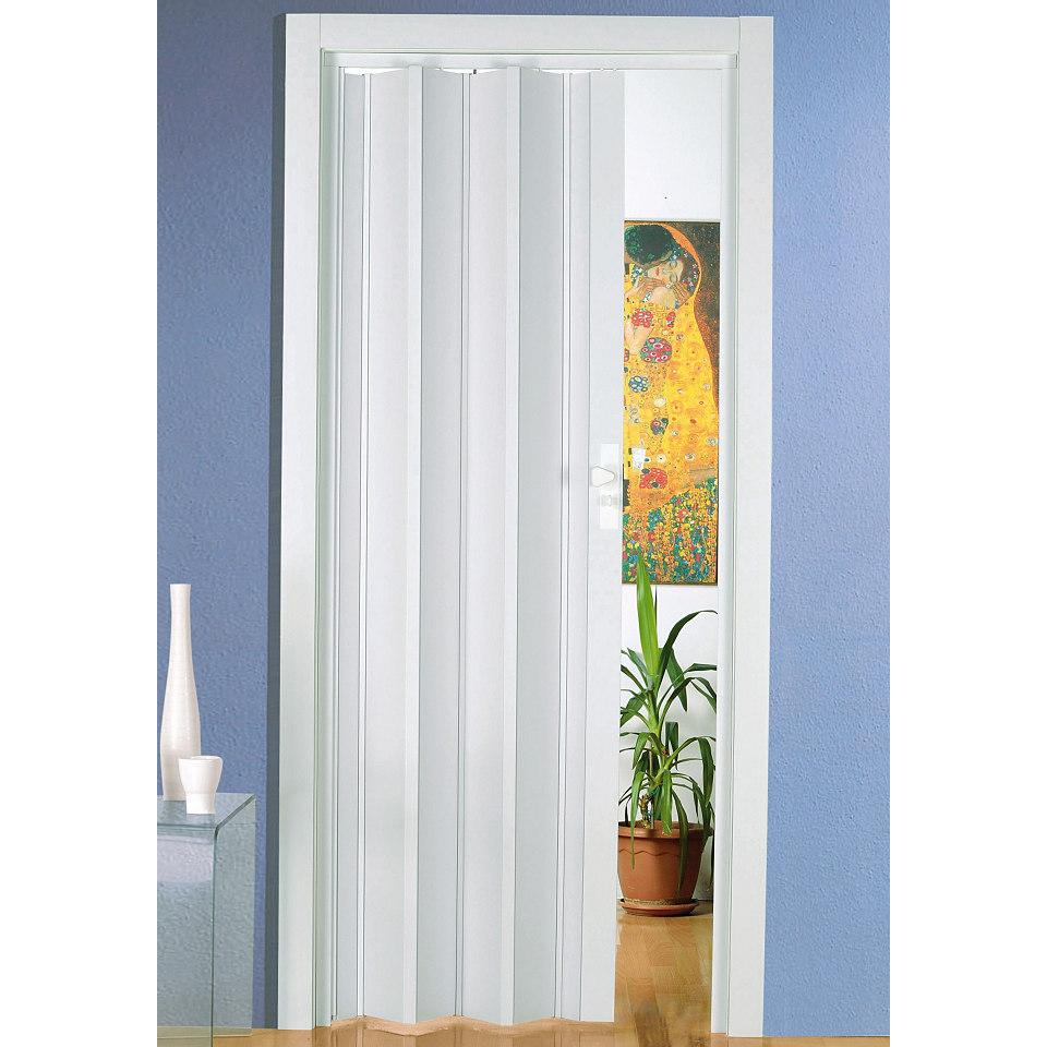 Zusatzlamellen für Kunststoff-Falttür »Lucian« in weiß (2 Stck.) , mit Fenster